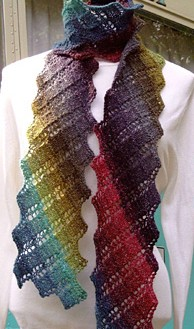 Free knitting pattern for Argosy Scarf and more colorful scarf knitting patterns