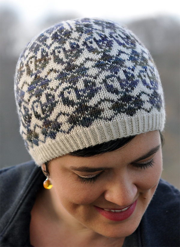 Knitting Pattern for Argyle Birds Hat