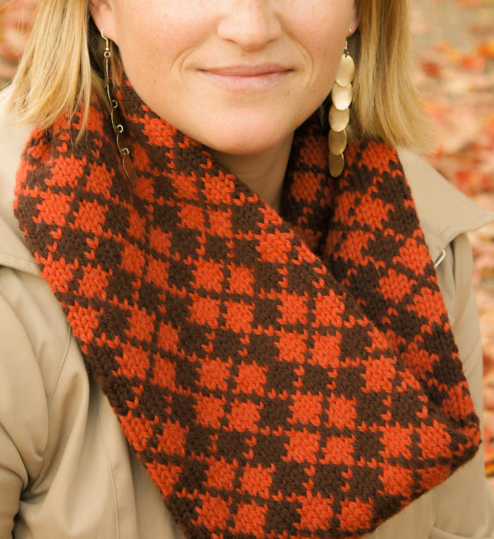 Free Knitting Pattern for Argyle Cowl