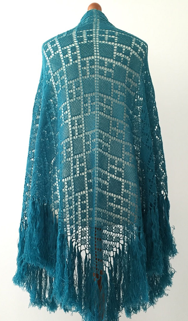 Free Knitting Pattern for Argyle Shawl