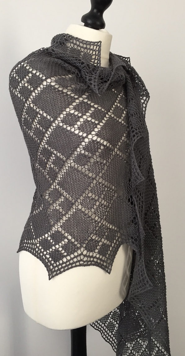 Free Knitting Pattern for Argyle Stole