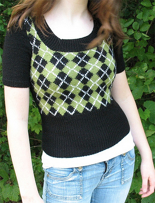 Free Knitting Pattern for Argyle Sweater