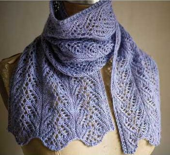 Knitting pattern for Aria Delicato lace scarf