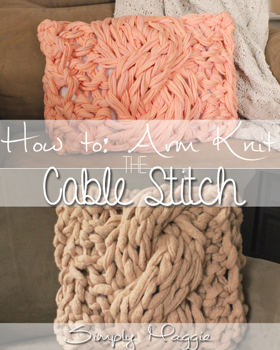 Free Knitting Pattern for Arm Knit Cable Stitch Pillow