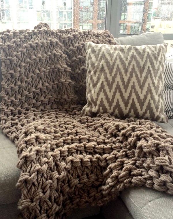 Free Knitting Pattern and Class for Arm Knit Throw