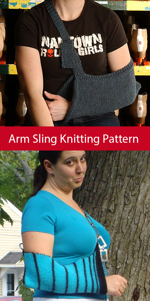 Knitting Pattern for Arm Sling