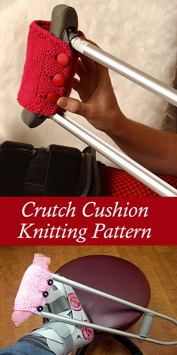 Knitting Pattern for Armpit Cushions for Crutches