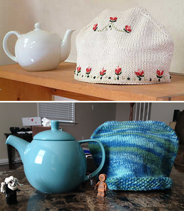 Free Knitting Pattern for Aromatherapy Tea Cosy