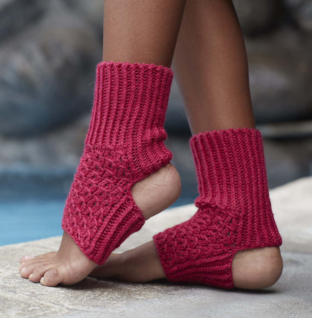 Free Knitting Pattern for Asana Yoga Socks