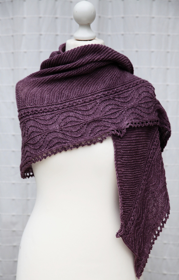 Free Knitting Pattern for Ascalon Shawl