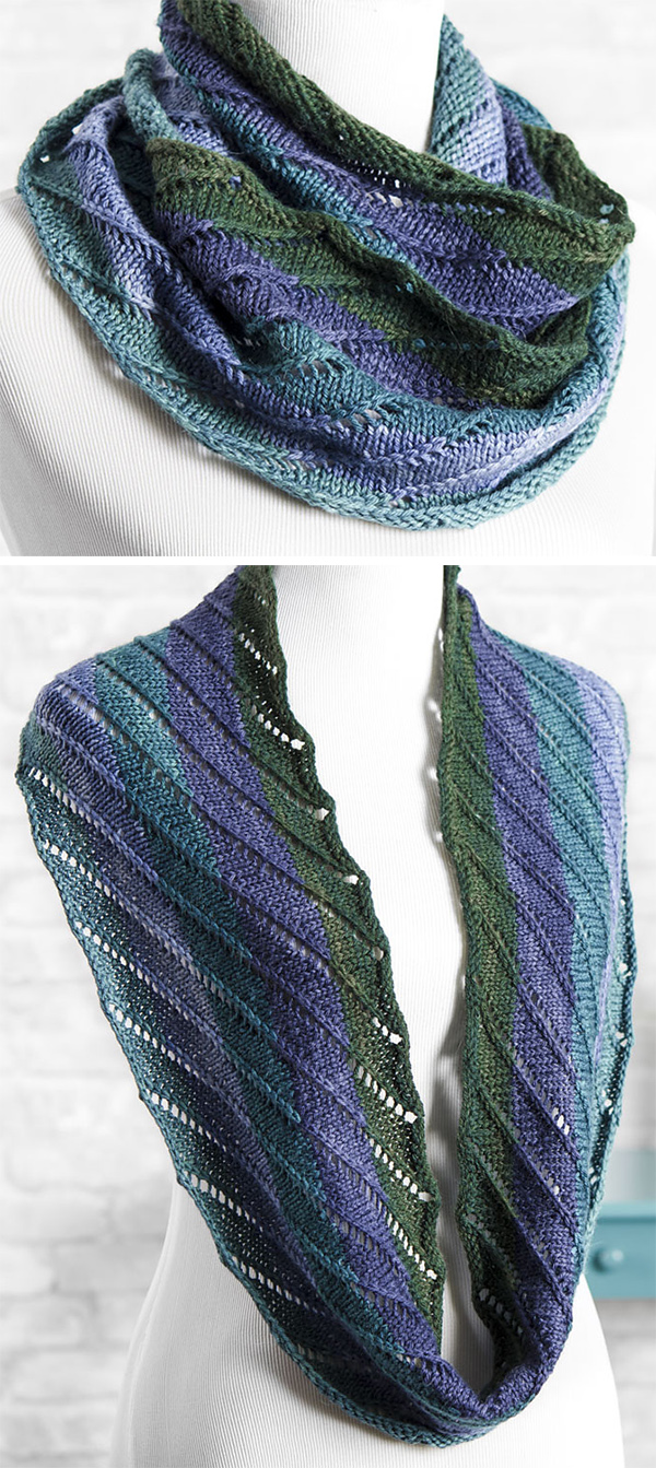 Knitting Pattern for Easy One Row Ashley Cowl