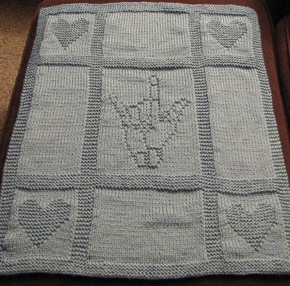 Free Knitting Pattern for ASL I Love You Blanket
