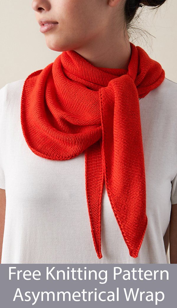 Free Knitting Pattern for Asymmetrical Wrap