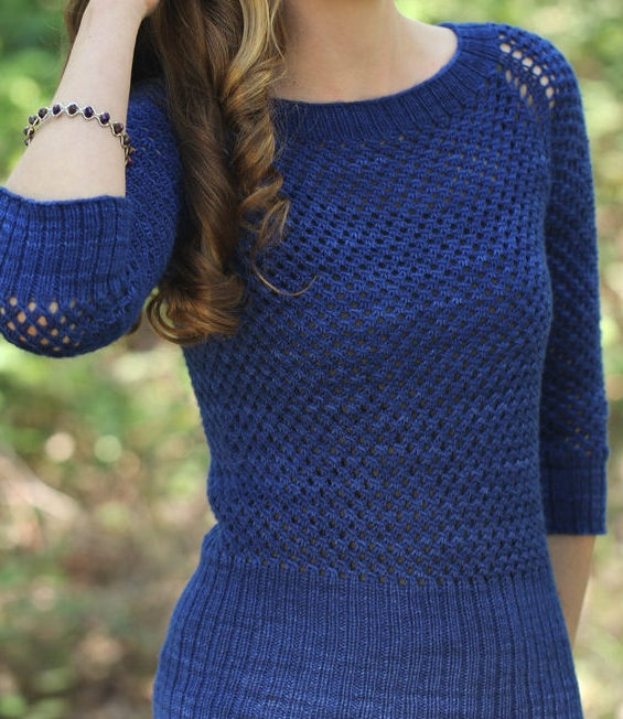 Knitting Pattern for August Sky Pullover Sweater