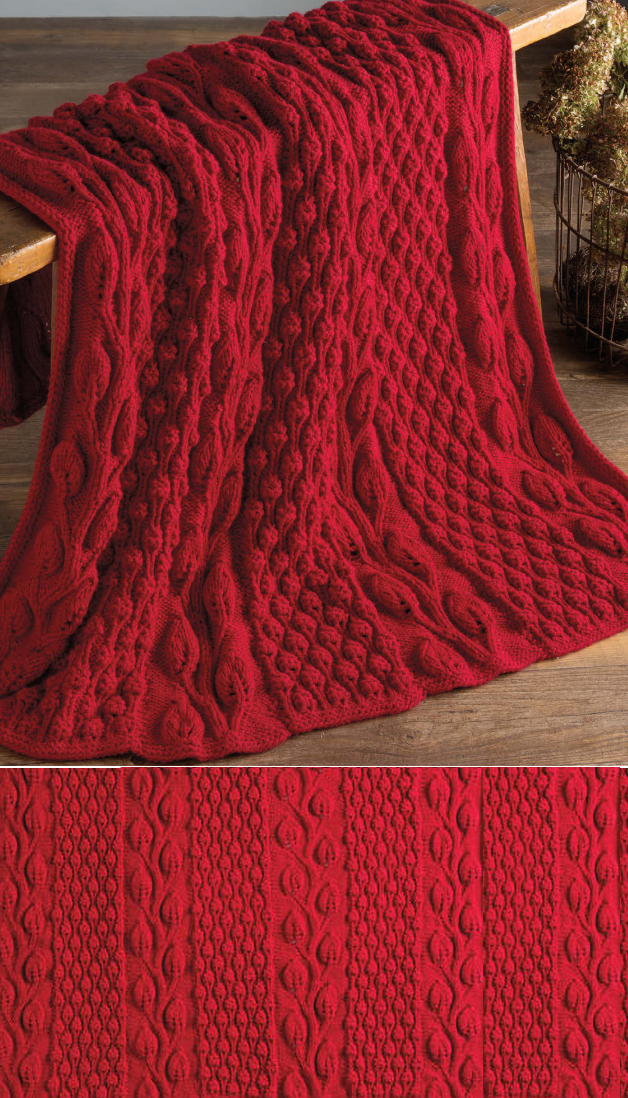 Free Knitting Pattern for Autumn Blaze Afghan