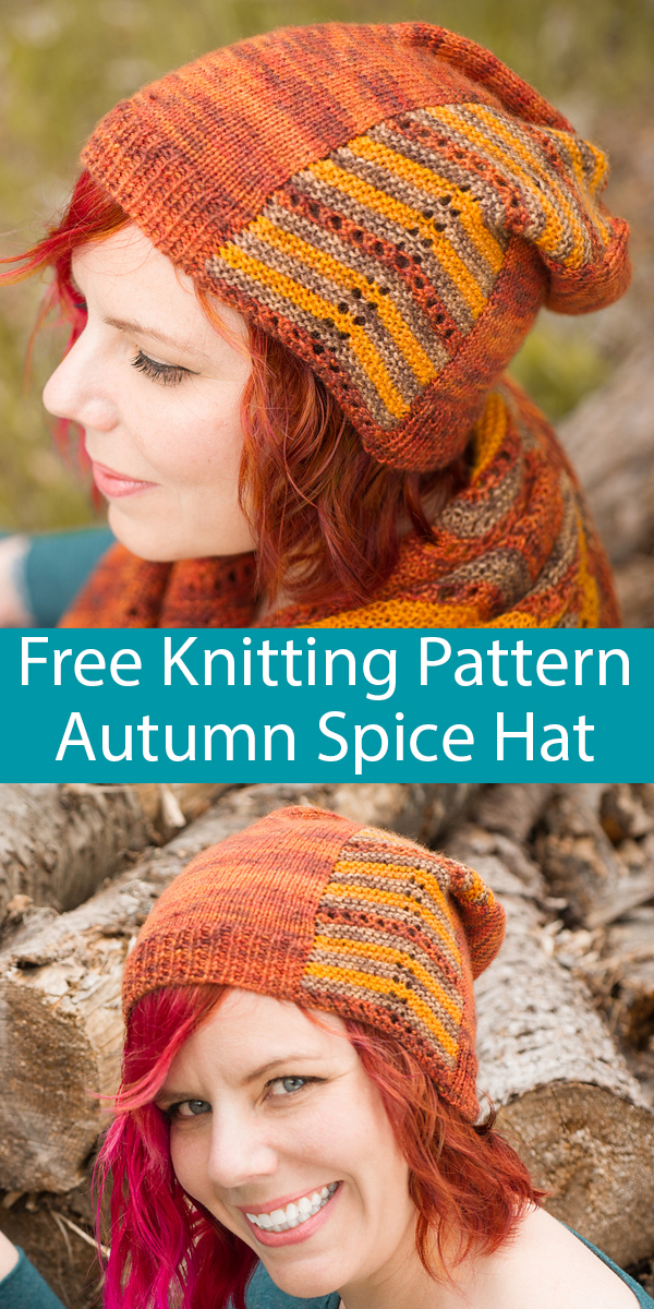 Free Knitting Pattern for Autumn Spice Slouchy Hat