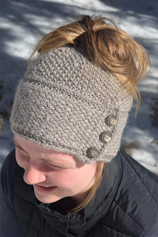 Knitting Pattern for Ava Messy Bun Hat