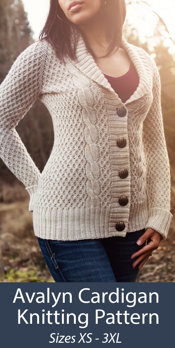 Knitting Pattern for Avalyn Cardigan