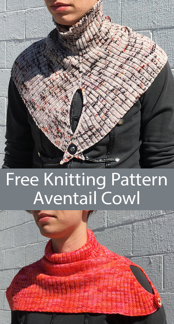 Free Knitting Pattern for Aventail Cowlt