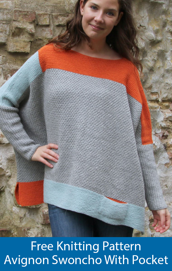 Free Knitting Pattern for Avignon Pullover Swoncho