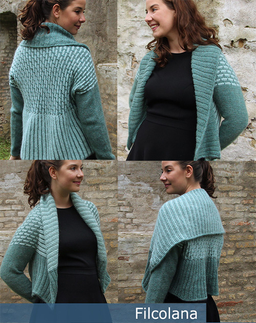 Free knitting pattern for Avonia convertibale cardigan