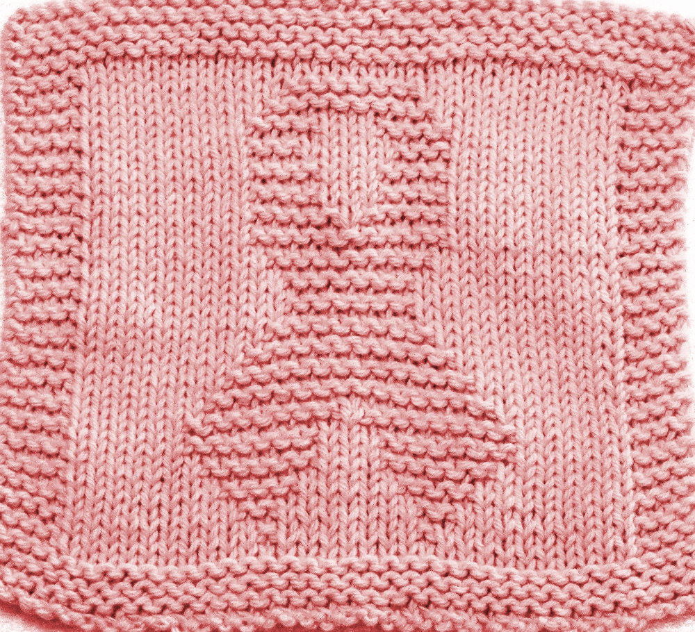 Knitting Pattern for Awareness Ribbon Cloth