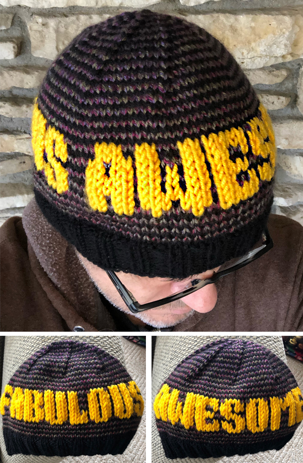 Free Knitting Patterns for Awesome Fabulous Beanie