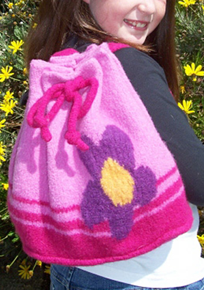 Free Knitting Pattern for Ayla Backpack