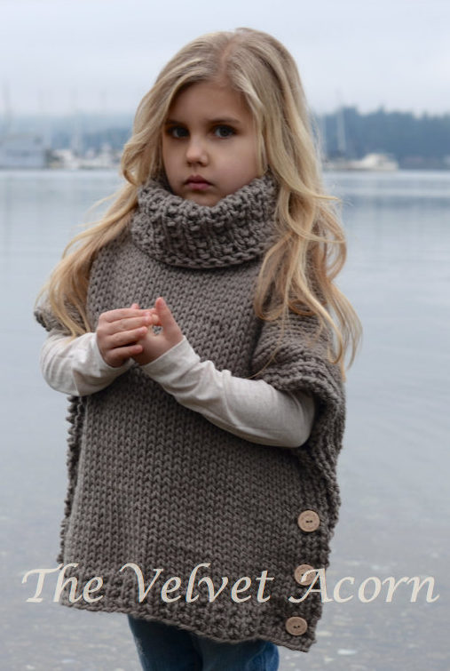 Knitting Pattern for Azel Poncho