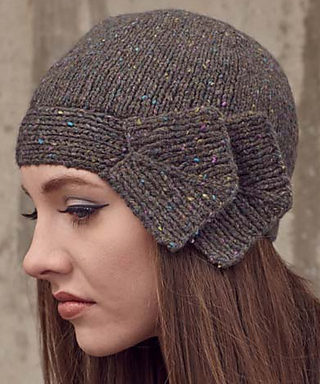 Knitting Pattern for Bow and Arrow Cloche