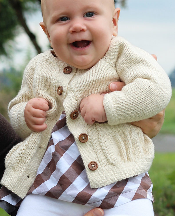 Knitting Pattern for Baby Belle Cardigan