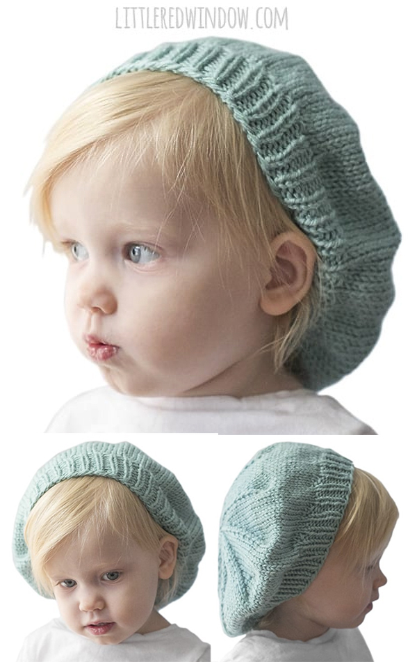 Free Knitting Pattern for Slouchy Baby Hat