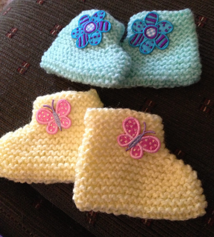 Free Knitting Pattern for Beginner Baby Booties