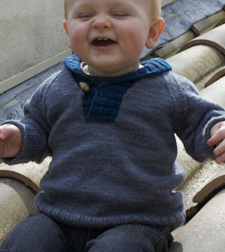 Free Knitting Pattern for Baby Brownstone Sweater