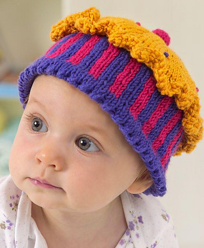 Free Knitting Pattern for Baby Confection Hat