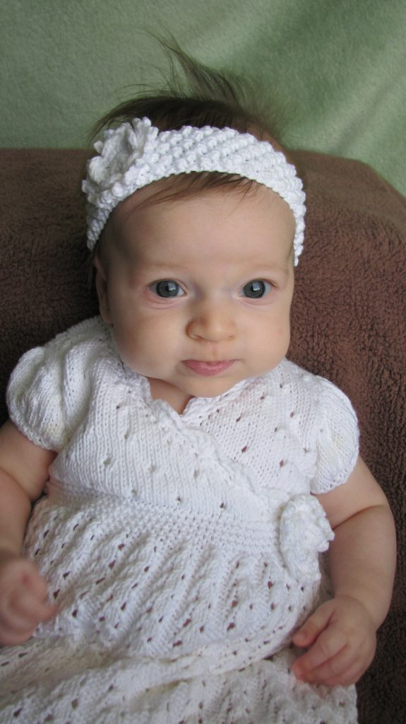 Sunday Stoll Knit Baby Dress Free Pattern
