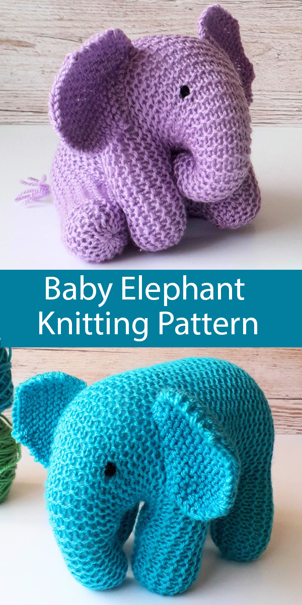 Knitting Pattern for Baby Elephant Toy