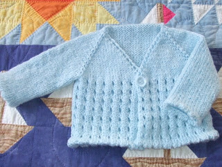 Free knitting pattern for Eyelet Cardi