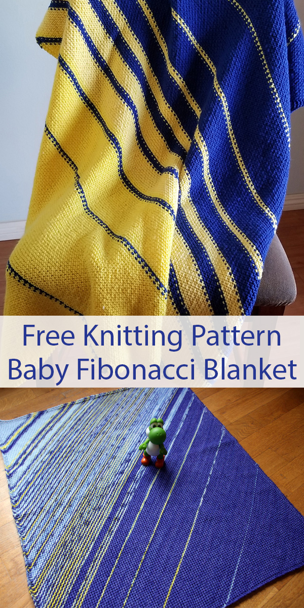 Free Knitting Pattern for Baby Fibonacci Baby Blanket