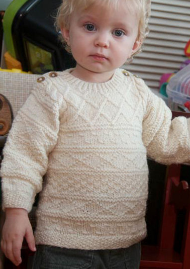 ea979fc5d Easy-On Pullovers for Babies and Children Knitting Patterns - In the ...