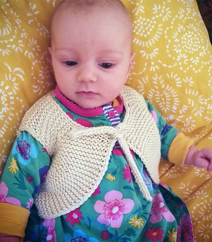 Free Knitting Pattern for Little Garter Gerkin