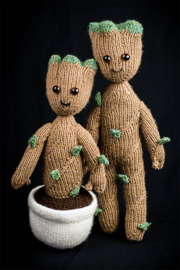 Knitting Pattern for Baby Groot Toy