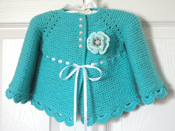 Knitting Pattern for Garter Stitch Baby Jacket