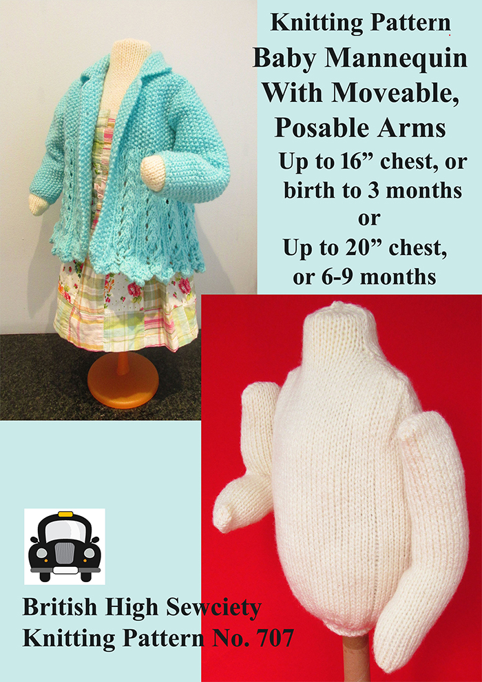 Knitting Pattern for Baby Mannequin