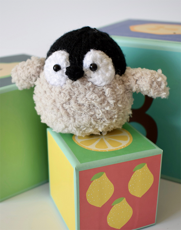 Knitting Pattern for Baby Penguin Toy