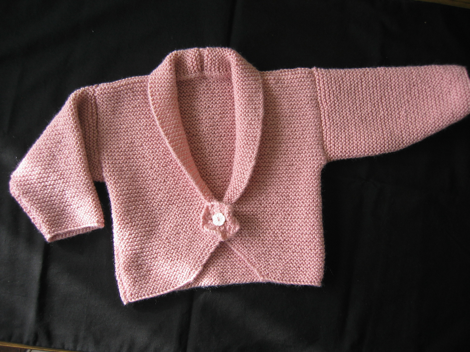 Knitting Pattern for Peony Baby Cardigan
