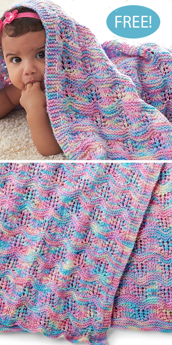 Free Knitting Pattern for Baby Ripple Afghan