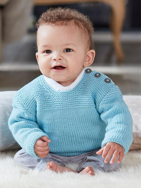 Knitting Pattern for Snuggly Baby Pullover