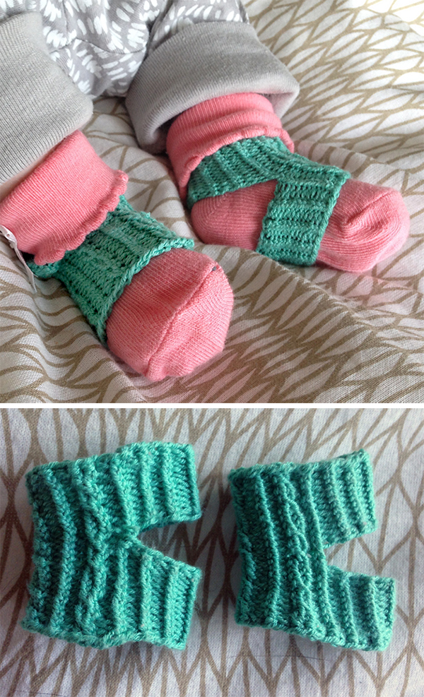 Free Knitting Pattern for Baby Sock Minders