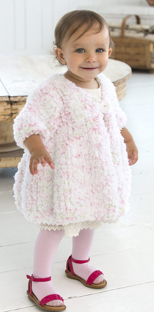 Free Knitting Pattern for Baby Swing Coat